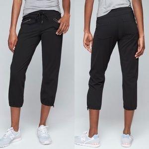 Athleta Black Metro Slouch Drawstring Capri Pants